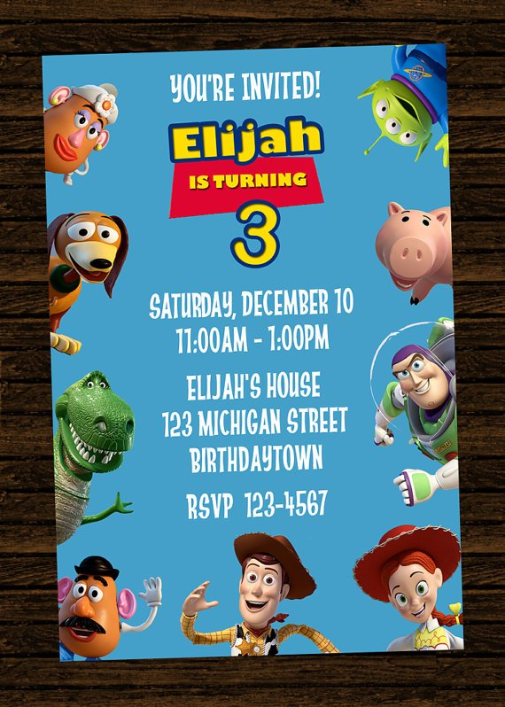 toy story birthday party invitations  drevio invitations design, Party invitations