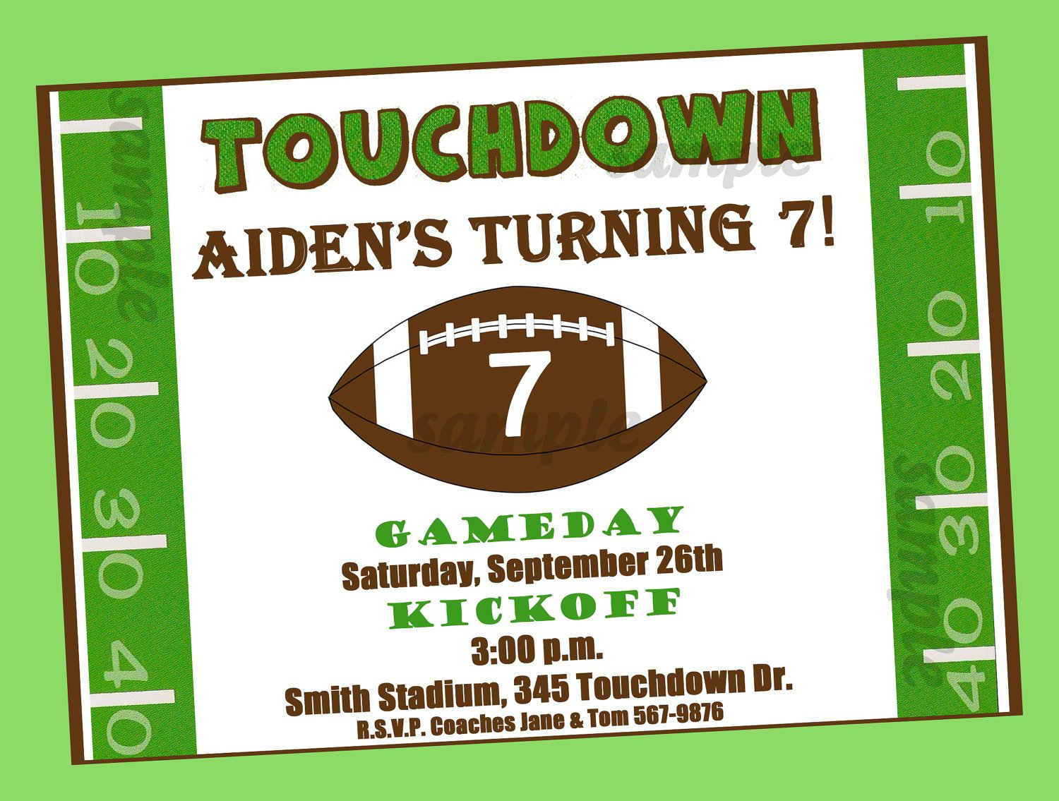 free printable football birthday invitations  drevio invitations, Birthday invitations