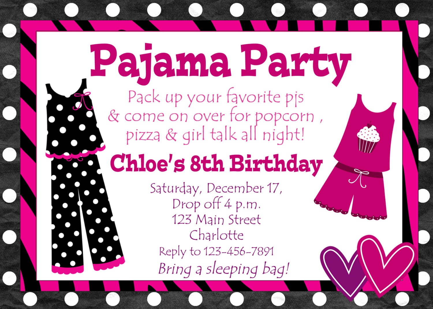 Birthday Party Invitations For Girls | Drevio Invitations Design