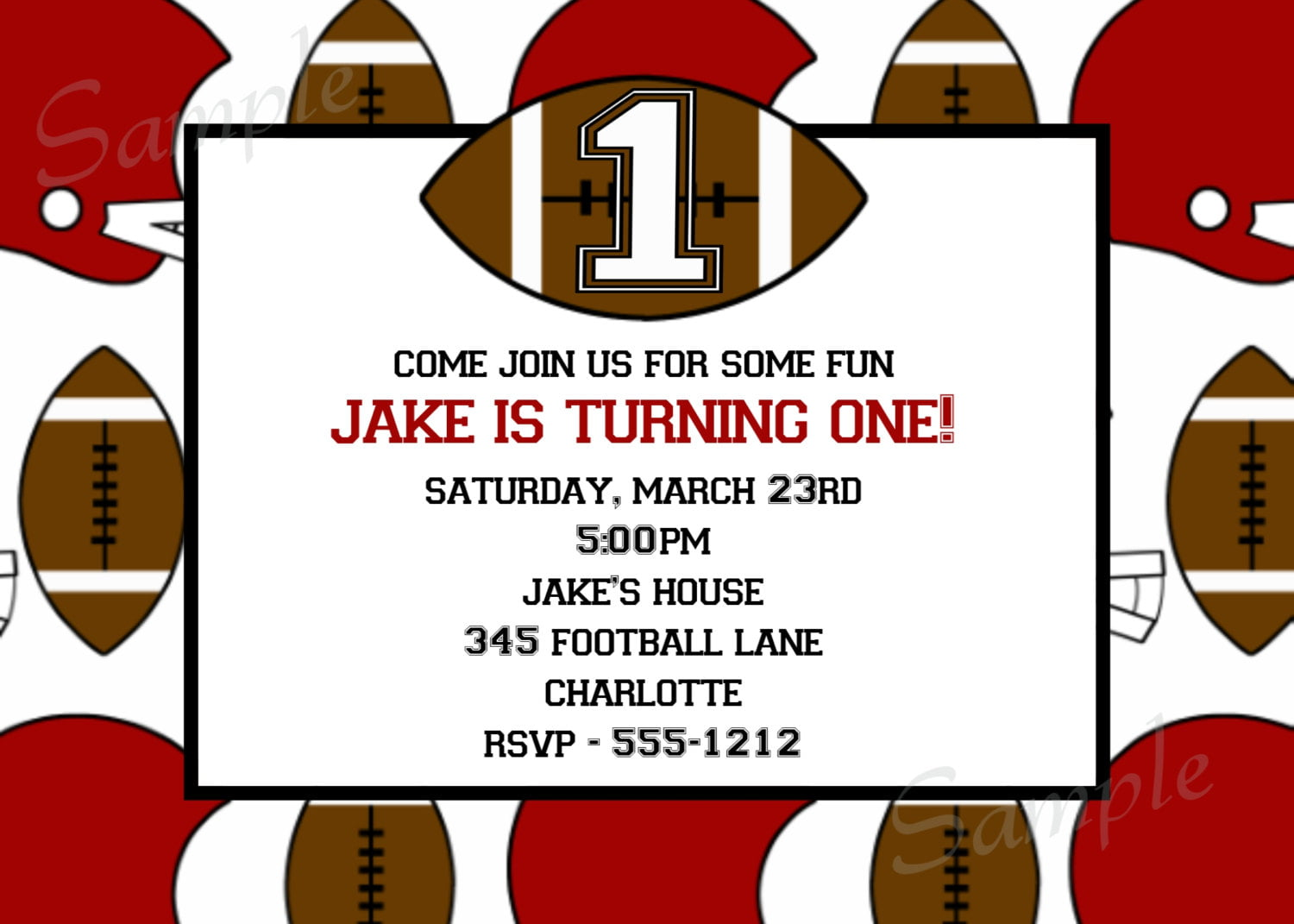 Free Printable Football Birthday Invitations – Free Printable Sports Birthday Invitations
