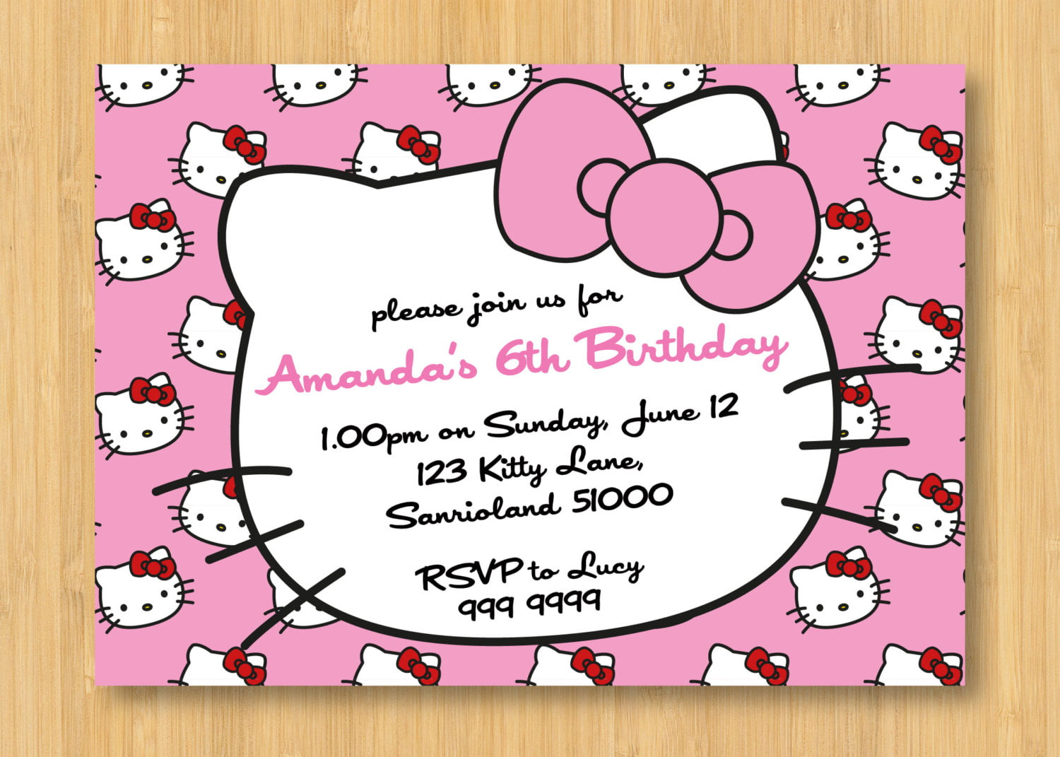 hello kitty printable birthday invitations invitations design hello kitty printable birthday party invitation by littleforests