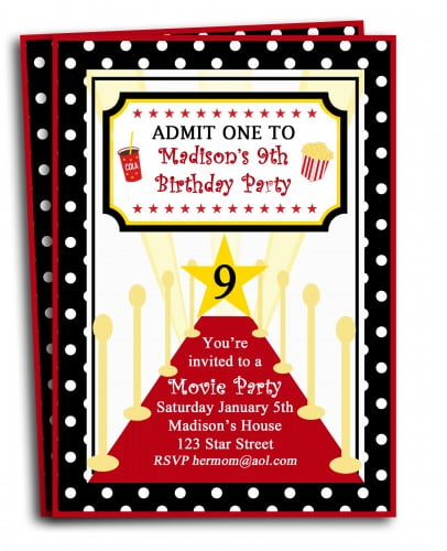 red carpet free printable birthday invitations for tweens