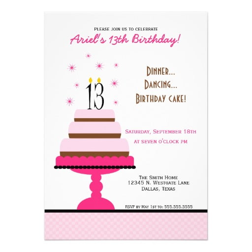 FREE Printable 13 Year Old Birthday Invitation Template FREE