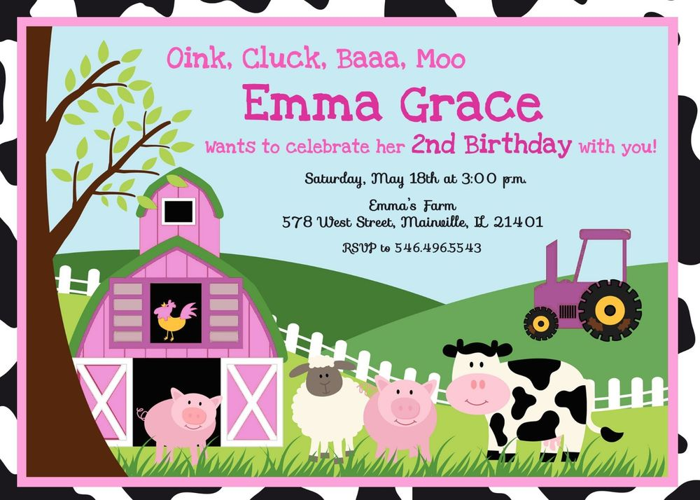 FREE Printable Petting Zoo Birthday Party Invitations – Farm Party Invitations