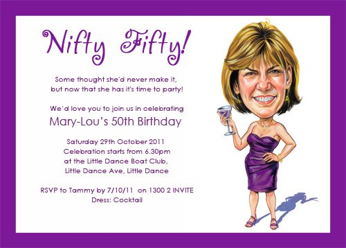 funny 50th birthday party invitations ideas | drevio invitations, Birthday invitations
