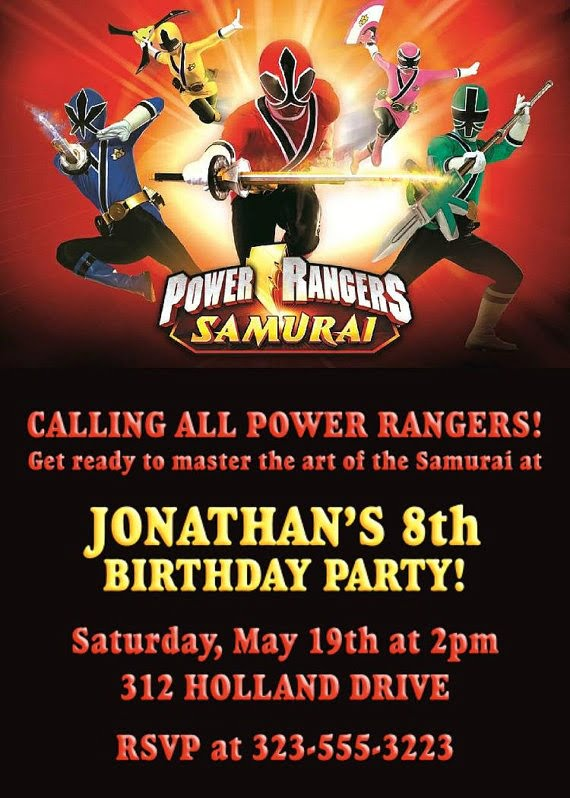 Free Printable Power Rangers Birthday Party Invitations Drevio