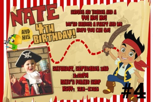 free printable jake and the neverland pirates birthday invitations, Invitation templates