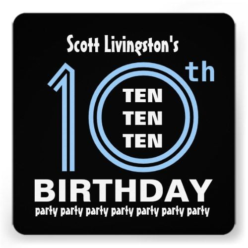 FREE Printable 10 Year Old Birthday Invitations