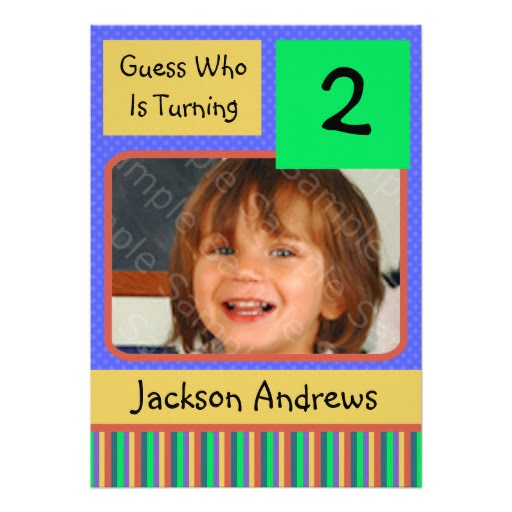 General Two Years Old Birthday Invitations
