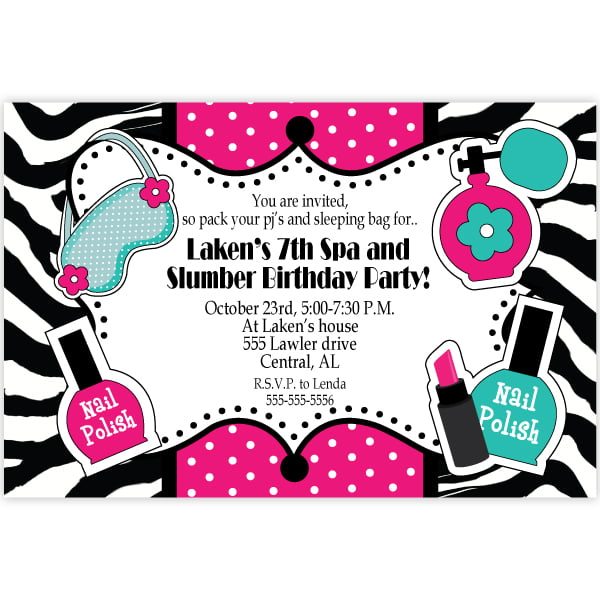 Spa Unique Birthday Invitations For Adult
