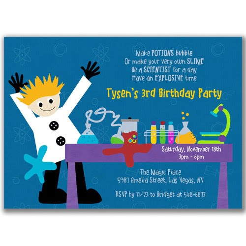 FREE Printable Mad Scientist Birthday Party Invitations Template – Mad Scientist Birthday Party Invitations