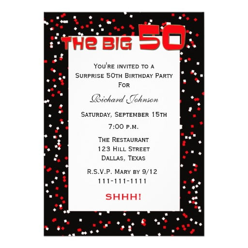 Cute 50th Birthday Invitations Wording Samples