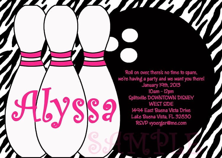 bowling party invitations templates free
