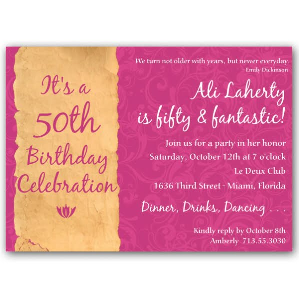 50Th Birthday Party Invitations For Her is great invitation example