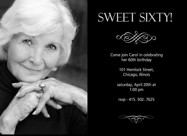 sweet sixty free printable 60th birthday invitations