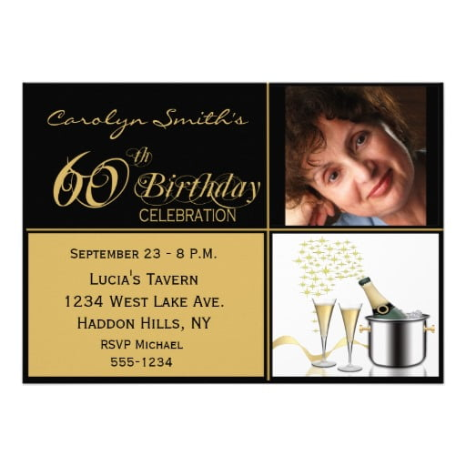 gold free printable 60th birthday invitations