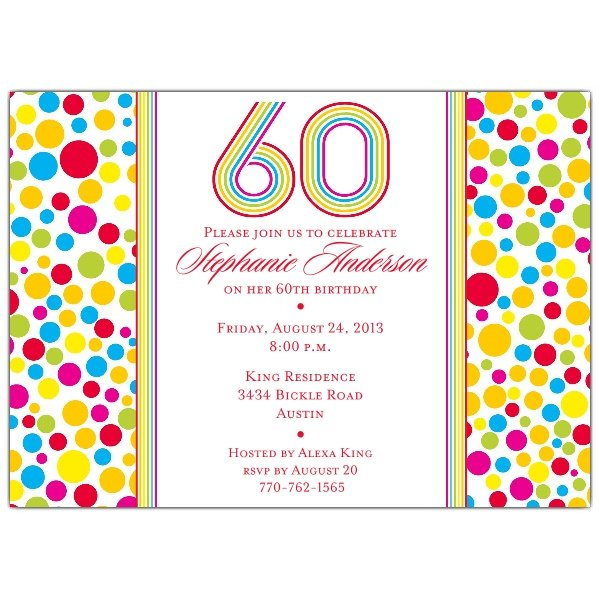 Free printable 60th birthday invitations drevio invitations design colorful free printable 60th birthday invitations filmwisefo