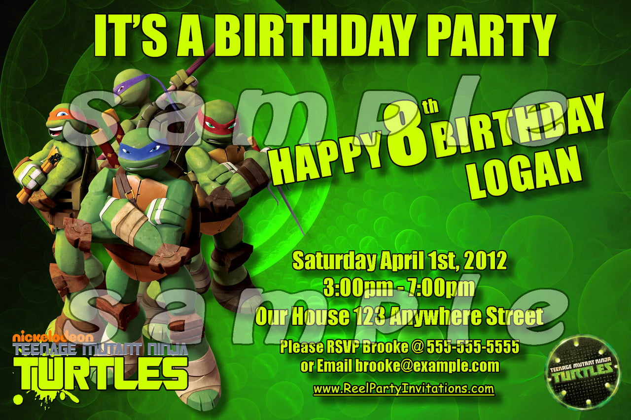 FREE Printable Teenage Mutant Ninja Turtles Birthday Invitation ...