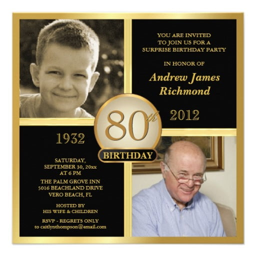 grandfather free printable 80th birthday invitations