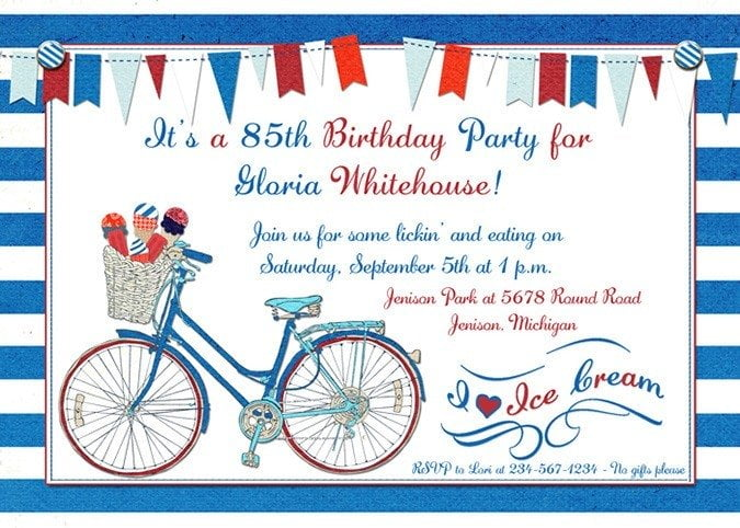 Sample birthday invitations wording for adults free invitation bicycle sample birthday invitations wording for adult stopboris Choice Image