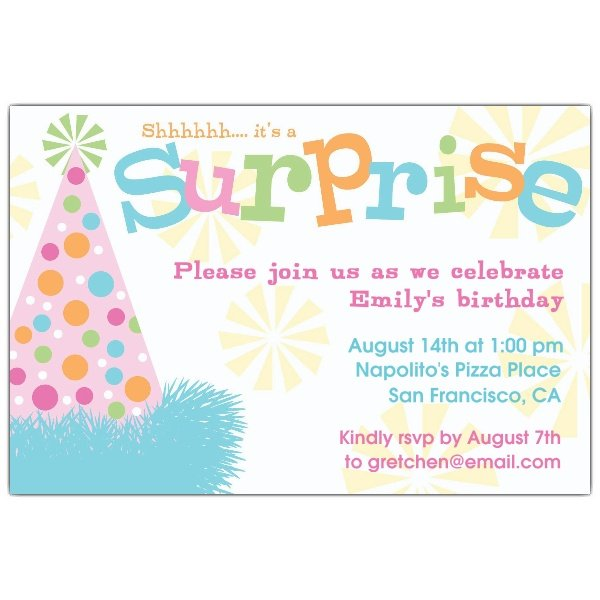surprise party invitations sansalvaje com