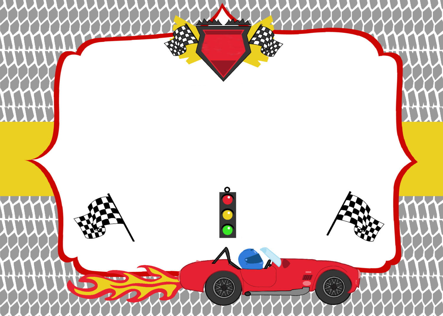 picture relating to Printable Racing Cars named Absolutely free Printable Race Vehicle Birthday Bash Invites - Up-to-date