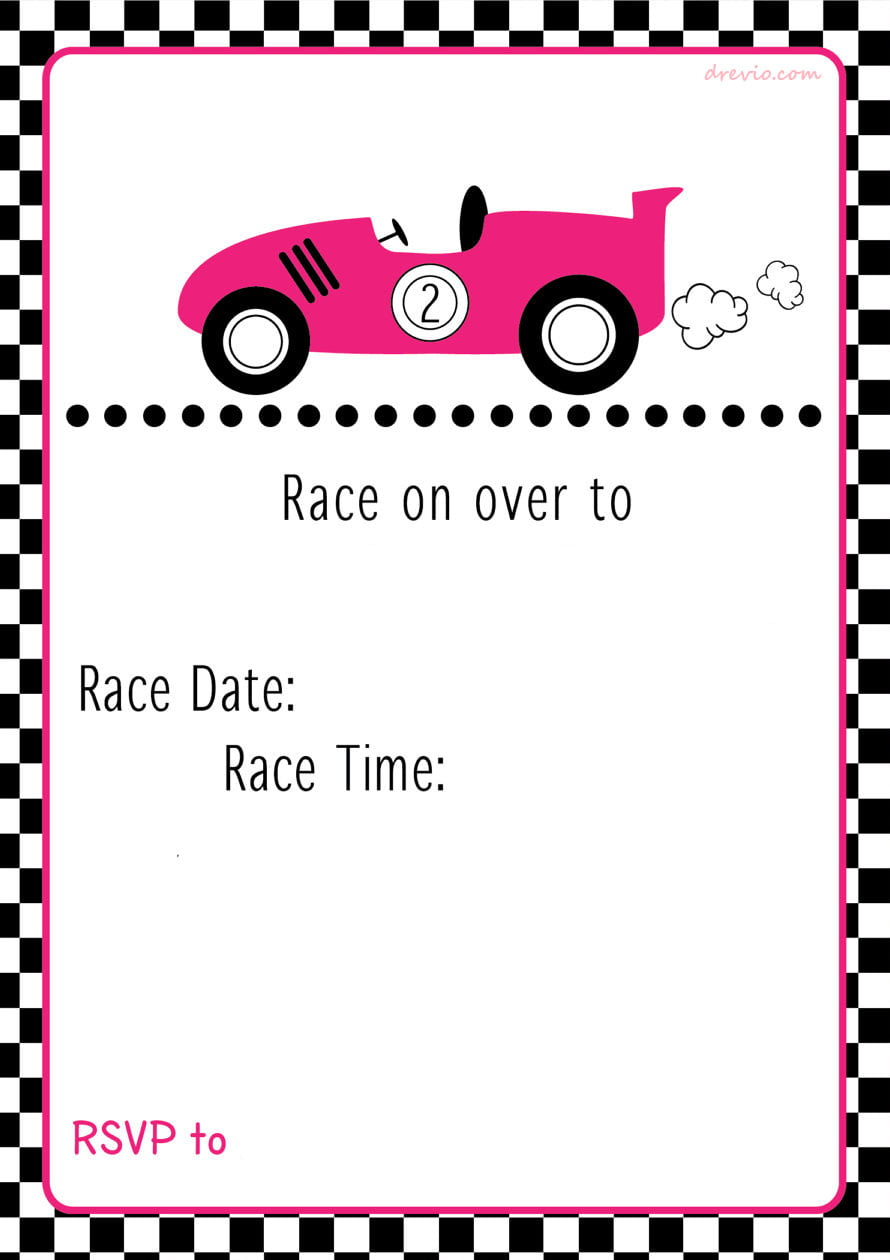 free printable race car birthday party invitations - updated   u2014 free invitation templates
