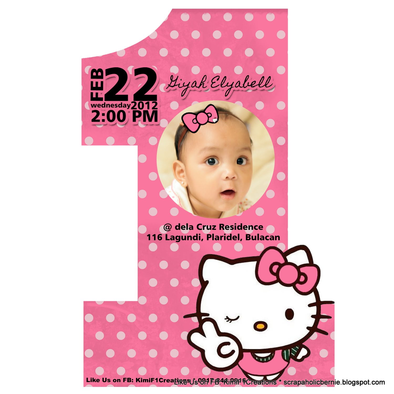 Hello Kitty Birthday Invitations Free Invitation Template ...