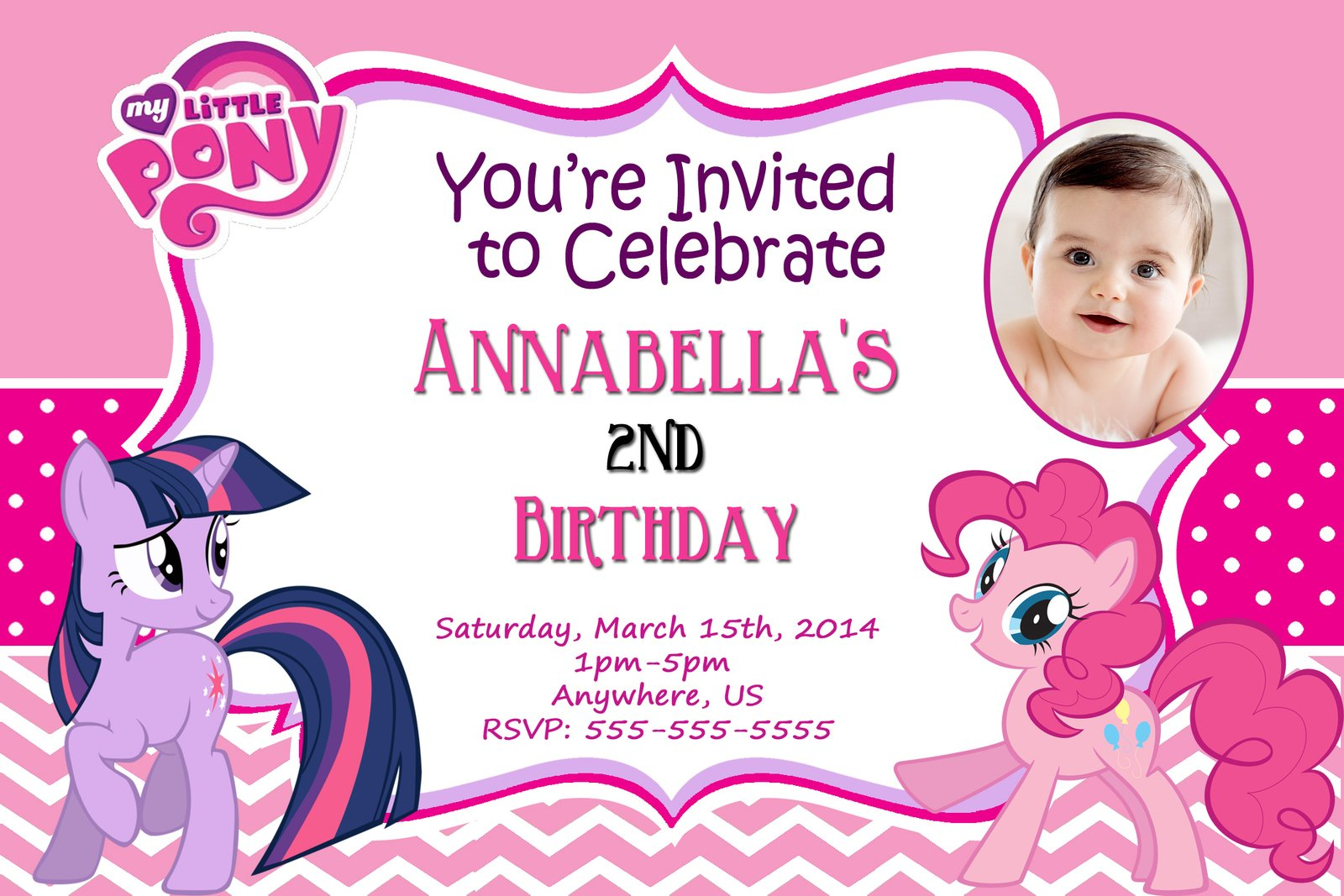 Free My Little Pony Birthday Invitations Printable