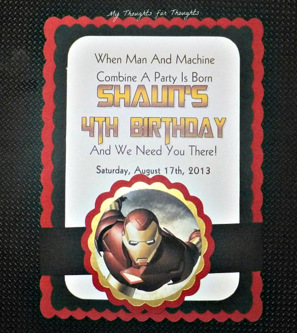 Iron Man Birthday Cake Images