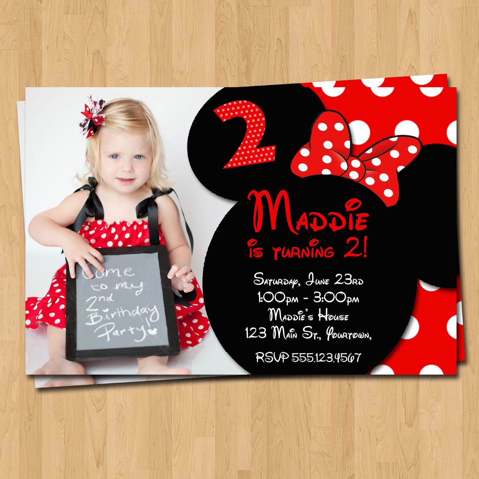Free Printable Minnie Mouse Birthday Party Invitations | FREE ...
