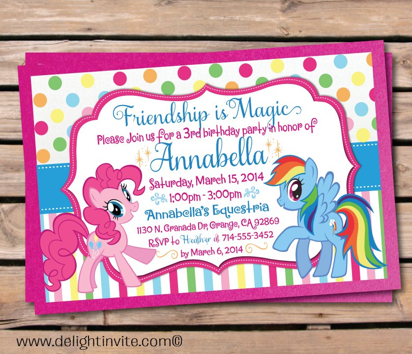 picture relating to My Little Pony Printable Birthday Cards known as Current) Totally free Printable My Small Pony Birthday Invites