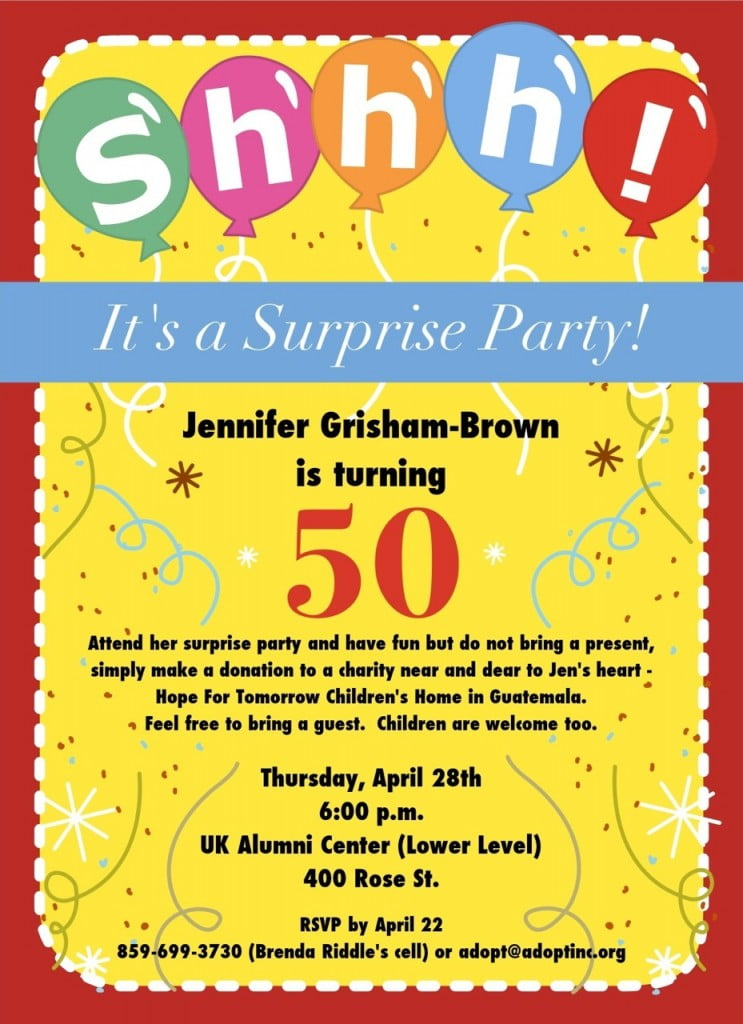 50Th Birthday Party Invitations For Her is great invitations layout