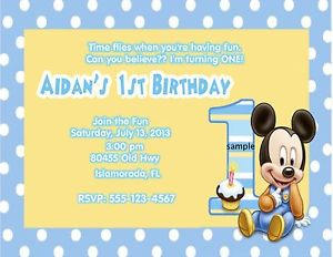 blue mickey mouse invitations 1st birthday
