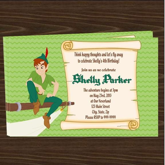 peter pan invitation template free peter pan birthday party invitations downloadable