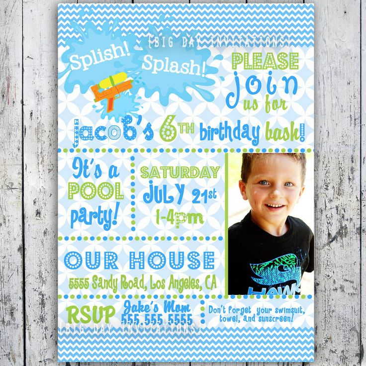 boys print birthday invitations at home