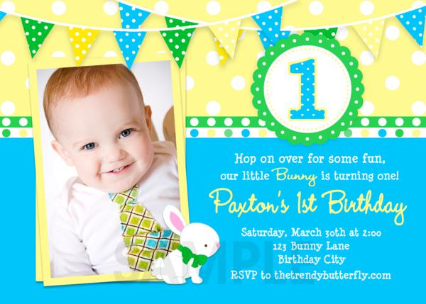 FREE Printable 1st Birthday Party Invitations Boy Template | Drevio Invitations Design