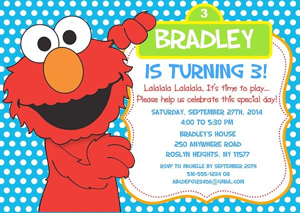 Free printable elmo birthday invitations free invitation for Elmo template for invitations