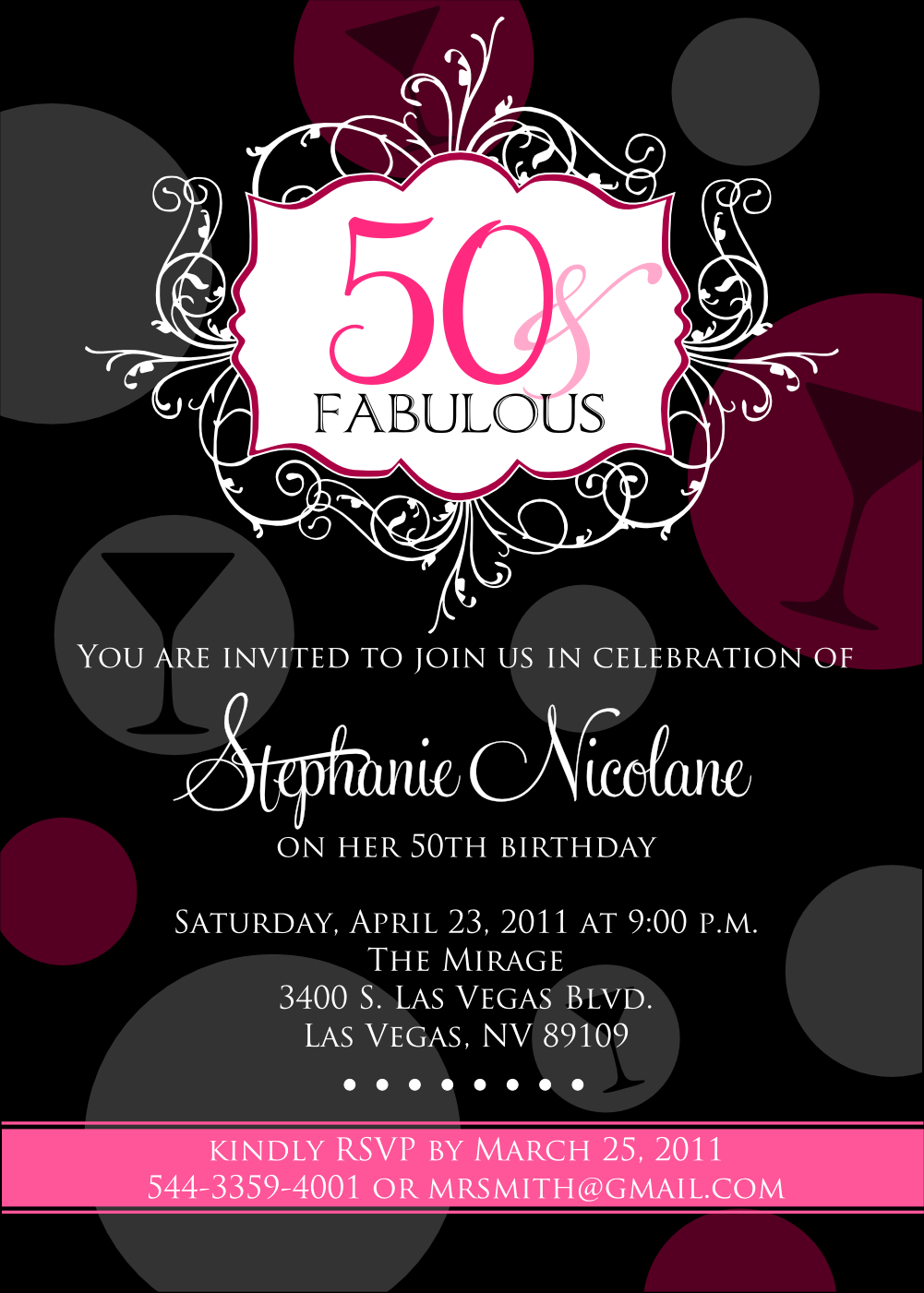 Fabulous 50th Birthday Invitations For Women