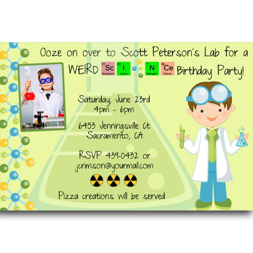 FREE Printable Mad Science Birthday Party Invitations Ideas FREE