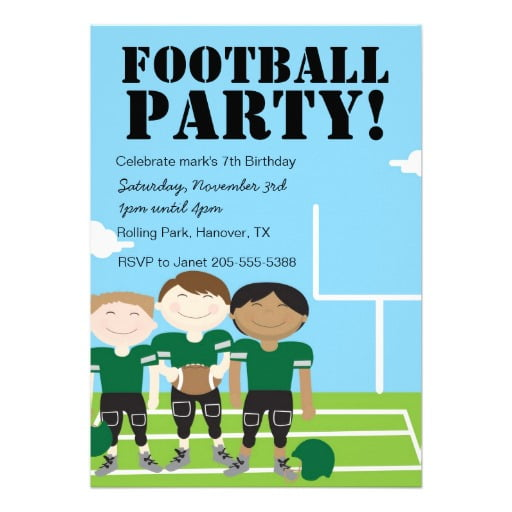 team free printable boys birthday party invitations