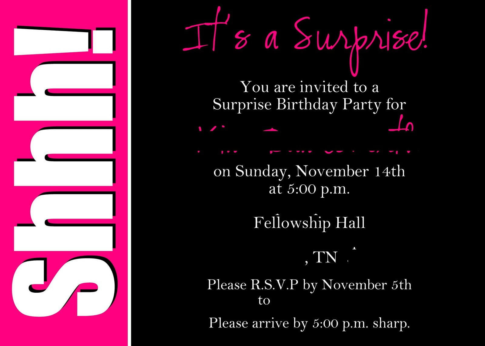 Surprise Birthday Invitations fleecinessinfo – Affordable Birthday Invitations