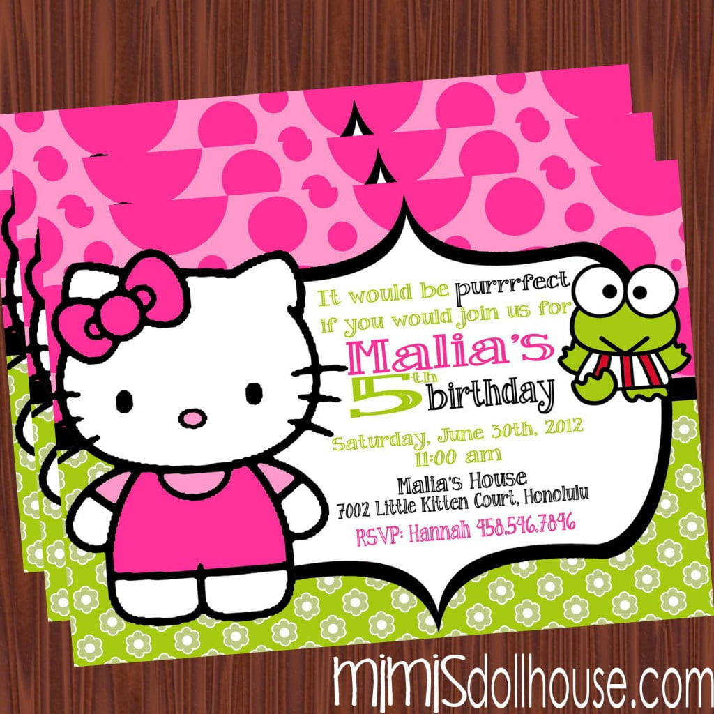 printable hello kitty birthday party invitations drevio frog hello kitty birthday invitations