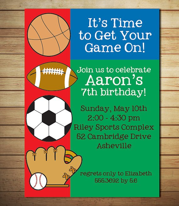 Free Printable Sports Birthday Invitations – Free Printable Sports Birthday Invitations
