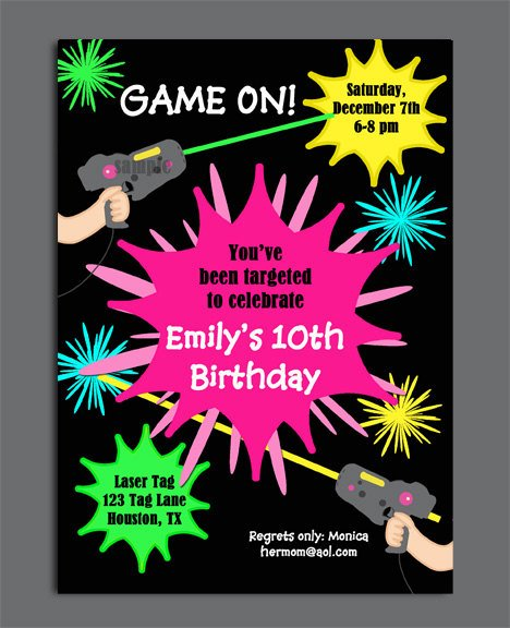 shot laser tag birthday invitations free