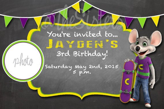 FREE Printable Chuck E Cheese Birthday Invitations Template Drevio - Chuck e cheese birthday invitation template