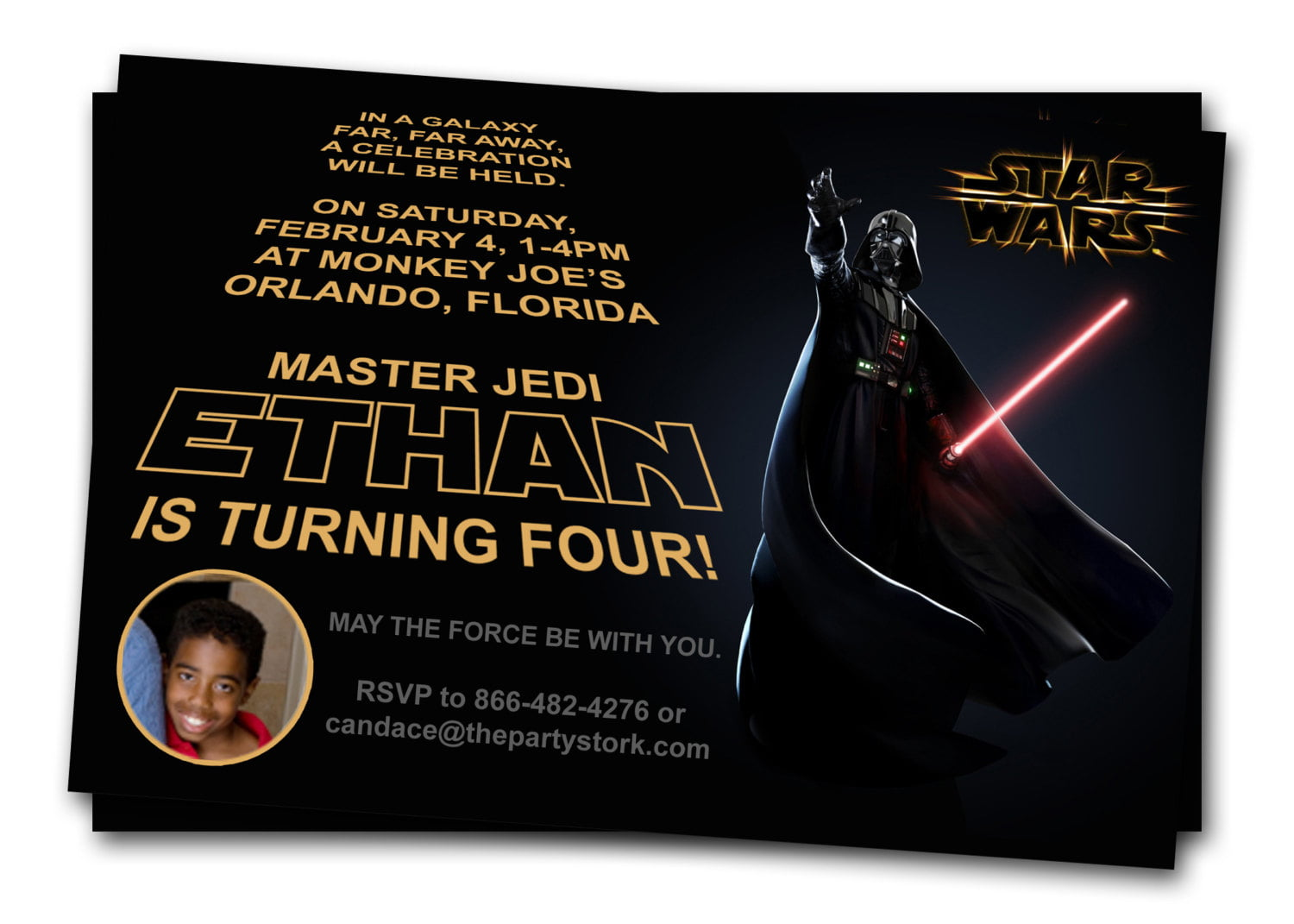 Free Printable Star Wars Birthday Invitations – Template Updated ...