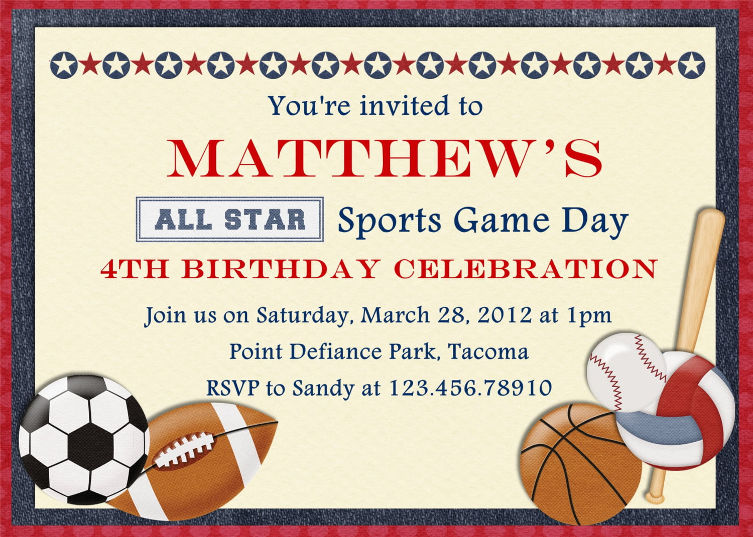 Free printable sports birthday invitations drevio invitations design free printable sports birthday invitations card filmwisefo Image collections