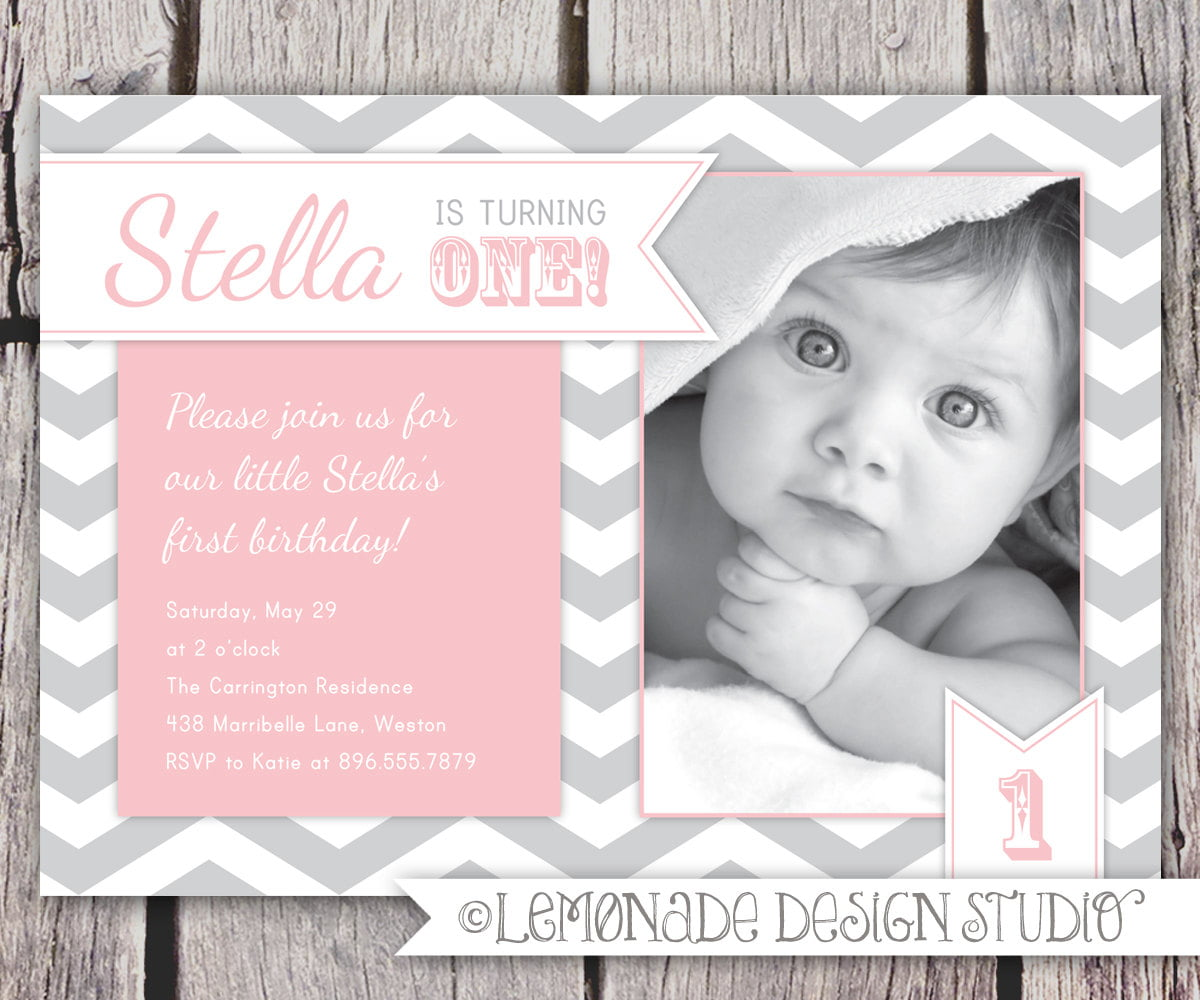 Baby Mickey 1st Birthday Invitations – Baby First Birthday Invitation Message