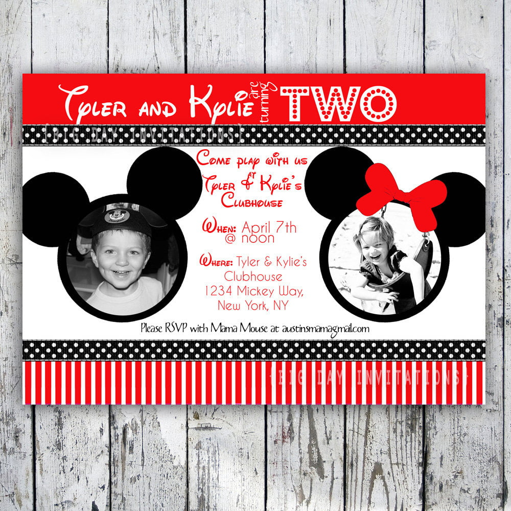 minnie mouse printable birthday invitations mickey